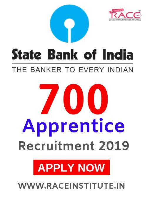 STATE BANK OF INDIA APPRENTICE VACANCIES - 700 POSTS - COMPLETE DETAILS