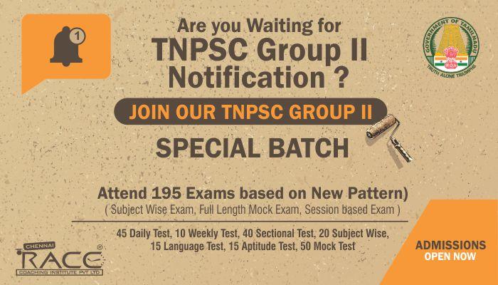 TNPSC GROUP 2 COACHING CLASSES IN TAMILNADU - RACE INSTITUTE