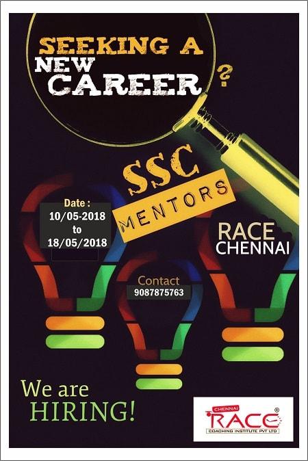 ssc recruitment for mentor in race institiute - the best ssc exam coaching institute -min