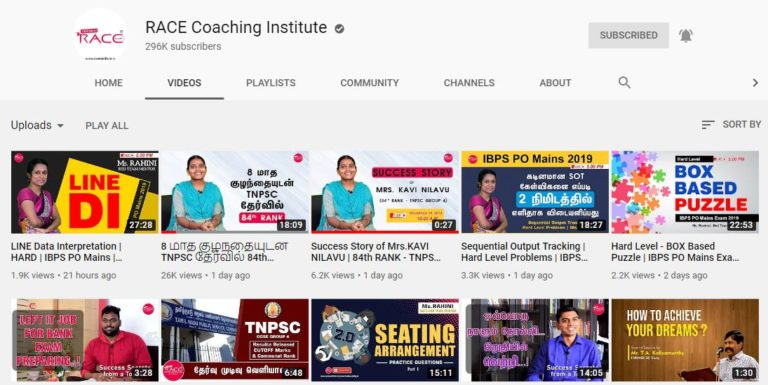RACE Institute _Youtube channel