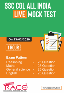 Free SSC CGL All India Live Mock Test by RACE