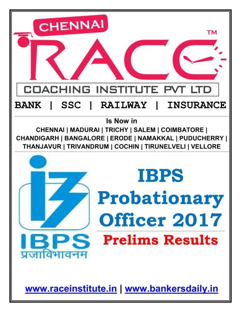 IBPS PO PRELIMS 2017 RESULT - FINAL 2-01