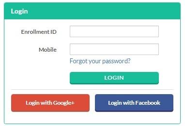 race institute - online exam portal login screen