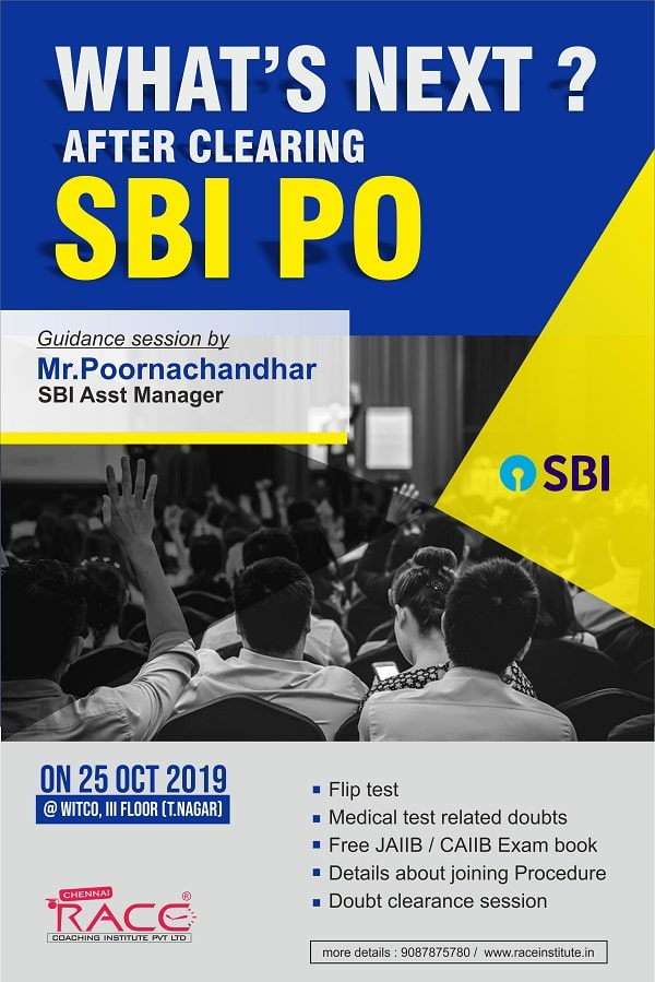 What's next after clearing SBI PO Guidance Session- RACE Institute